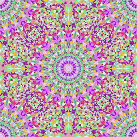 Bohemian oriental seamless polygonal mandala pattern design - abstract vector background