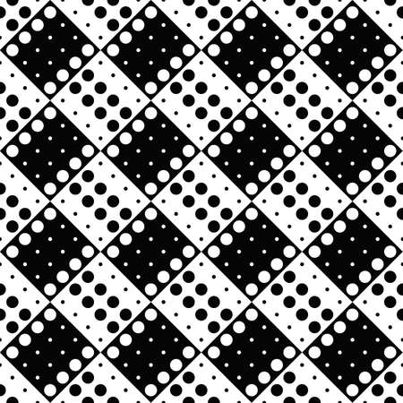 Black and white dot pattern background design - monochrome vector illustration from dots