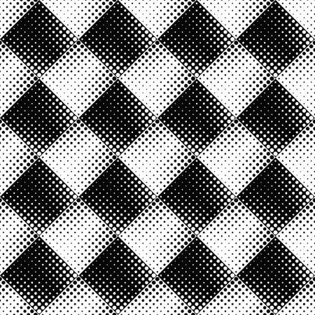 Black and white seamless circle pattern background - abstract vector graphic design from dots Ilustrace