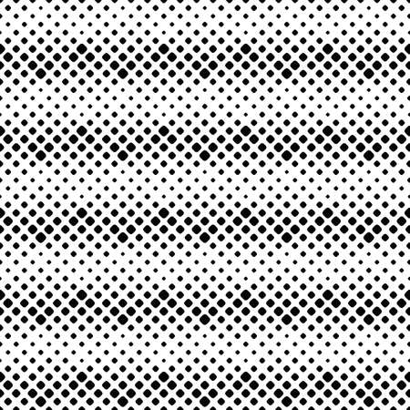 Seamless square pattern background design - black and white abstract vector illustration