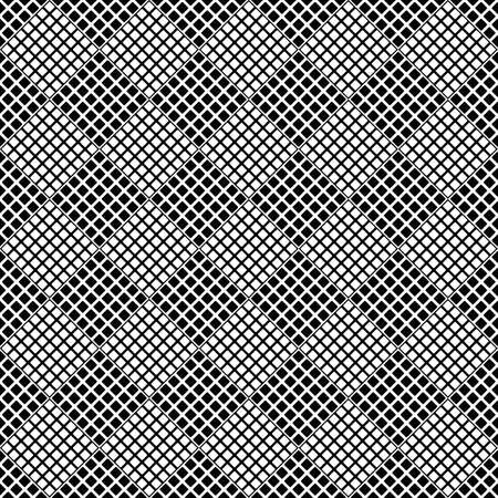 Black and white seamless geometrical diagonal square pattern background - abstract monochrome vector illustration