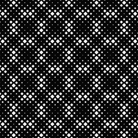 Seamless geometrical monochrome square pattern background - abstract black and white vector graphic design from rounded squares