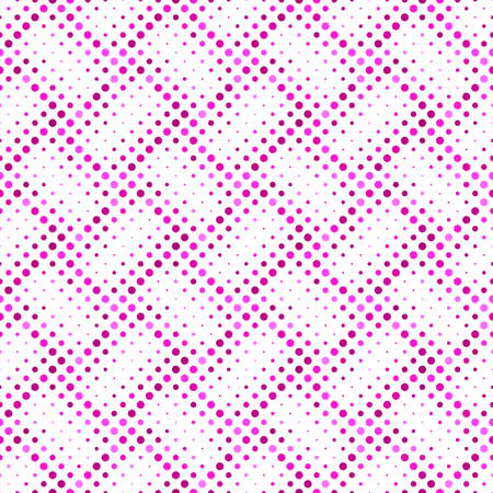 Seamless geometrical dot pattern background - deep pink abstract vector illustration Ilustrace