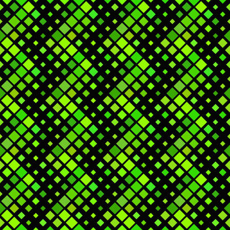 Geometrical square pattern background design - green abstract vector illustration from diagonal squares Ilustrace