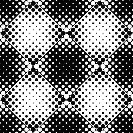 Seamless dot pattern background - abstract black and white vector design from circles