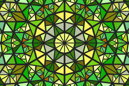 Dynamic geometrical abstract round mosaic pattern background design