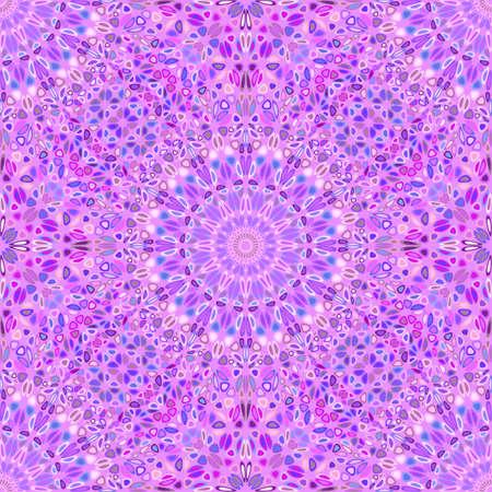 Seamless bohemian flower mandala ornament pattern background Ilustrace