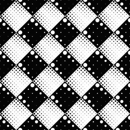 Geometrical black and white seamless dot pattern background design