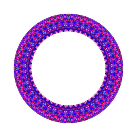 Mosaic round frame - geometrical abstract colorful vector element