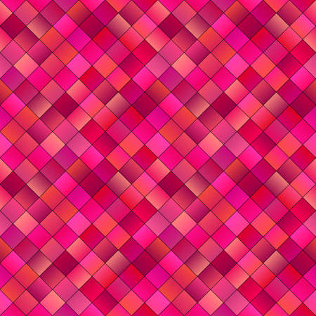 Seamless square pattern background - colorful abstract vector design from diagonal squares