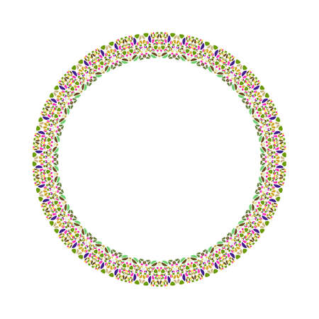 Geometrical floral border - abstract circular vector design element Ilustrace