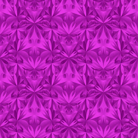 Purple mosaic floral pattern background design - polygonal seamless vector graphic