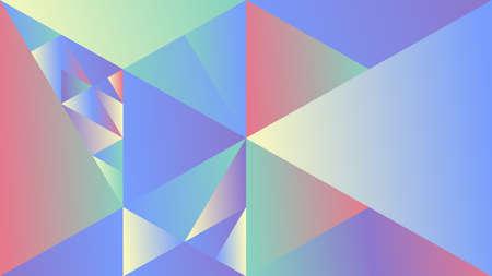 Geometric dynamic gradient mosaic triangular desktop background - polygonal abstract multicolored vector design