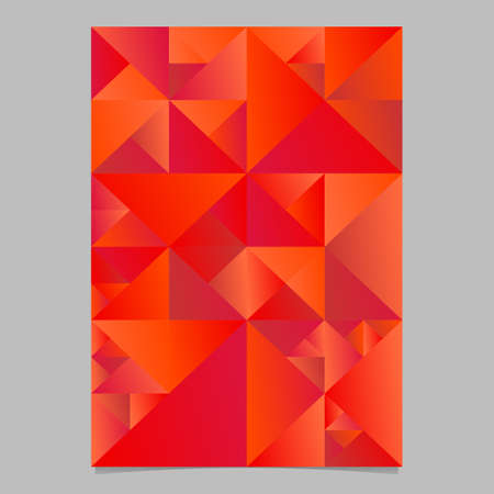 Geometrical triangle page template - polygonal red vector brochure background graphic design Ilustrace