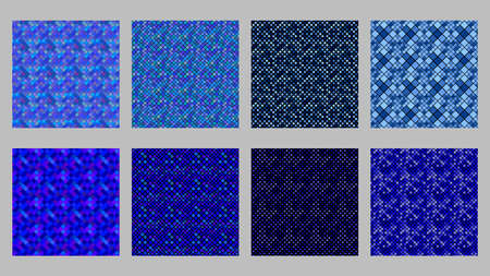 Abstract square pattern background set - vector graphic Ilustrace