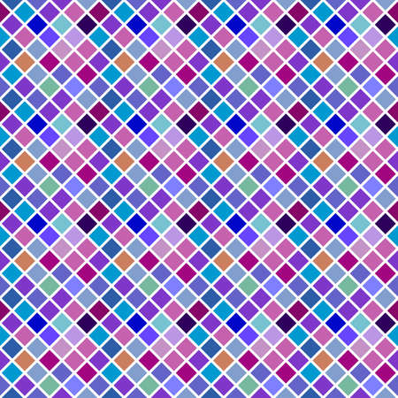 Geometrical seamless colorful diagonal square pattern background design - abstract multicolored vector graphic