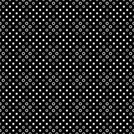Geometrical circle pattern background design - abstract monochrome vector graphic from dots and circles