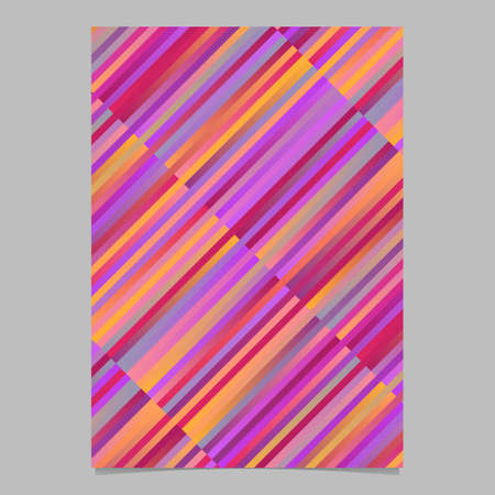 Geometrical colorful modern stripe flyer design - abstract vector stationery template Ilustrace