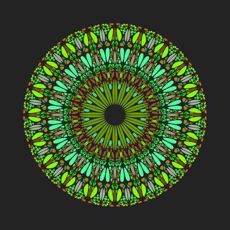 Round abstract gemstone ornament mandala - ornamental geometrical ornate vector design