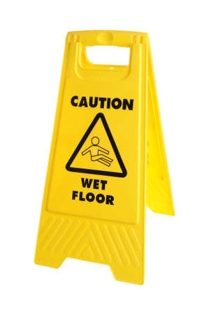 Wet Floor Caution sign photo