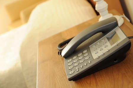 bedside: Bedside telephone Stock Photo