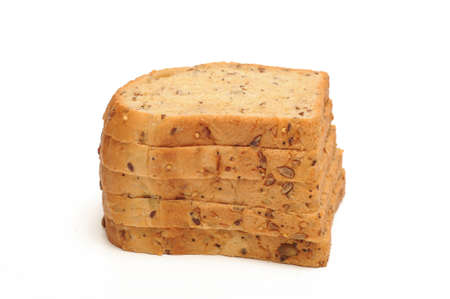 slices of seeded bread 스톡 콘텐츠