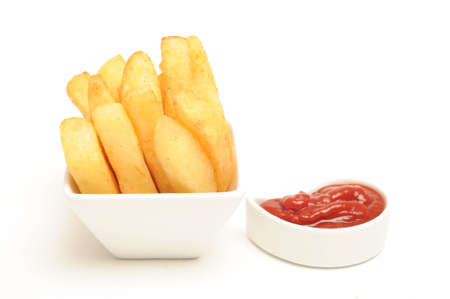Chips with tomato sauce dip