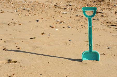 Spade on the beach
