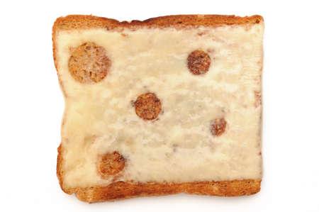 cheese on toast 스톡 콘텐츠