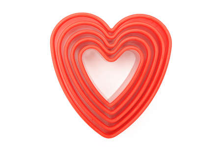 Heart shaped cutters 스톡 콘텐츠