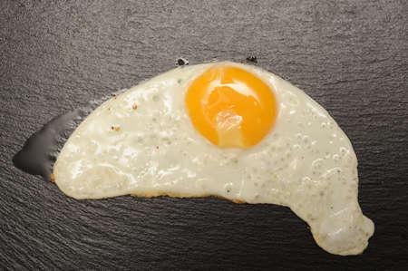 기름기 기름에 튀긴 된 계란 스톡 콘텐츠 - 15885563
