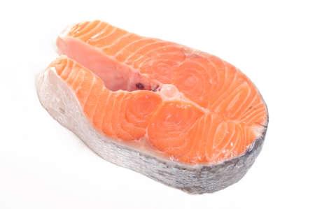 Salmon steak 스톡 콘텐츠