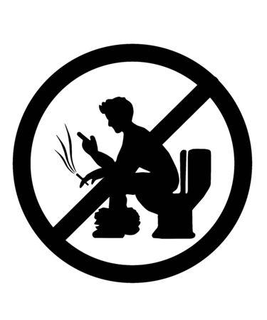 No fume ni use el teléfono en el baño.