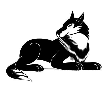 The shape of a black and white wolf logo can be used to make logos.