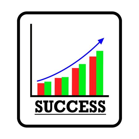 Image of graph showing success with white background.