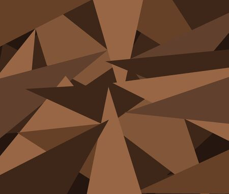 Stacked triangular pattern Many shades of brown. Ilustração