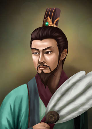 Portrait of an ancient Chinese consultant He is an expert in strategy and governance. 版權商用圖片