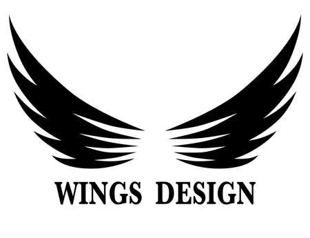 Black animal wing logo design vector illustration suitable for branding or symbol. Logo