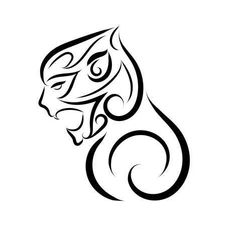 Black and white line art of monkey head. Good use for symbol, mascot, icon, avatar, tattoo, T Shirt design, logo or any design you want. Logo