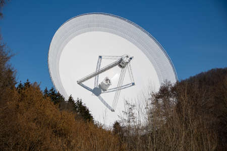 The view of the radio telescope in Effelsberg