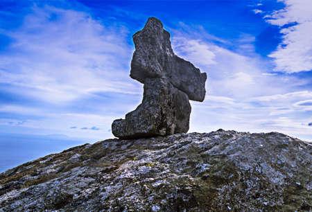 ices: Granite in Elba Island Stock Photo
