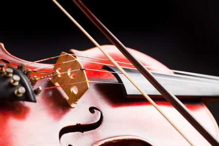 Detail of violin Stock Photo