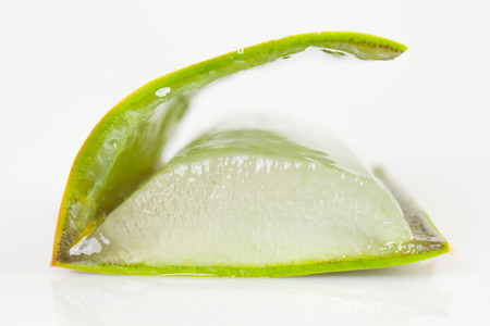 Slice of Aloe Vera Stock Photo