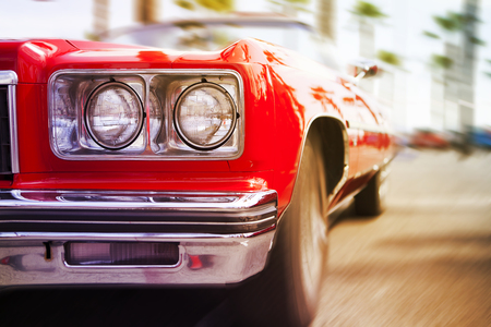 auto old: Clásico coche deportivo.