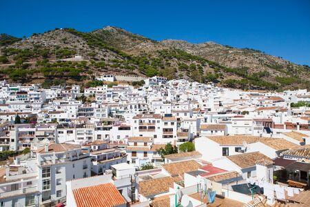 안달루시아, 스페인에서에서 Mijas 하얀 마을입니다.