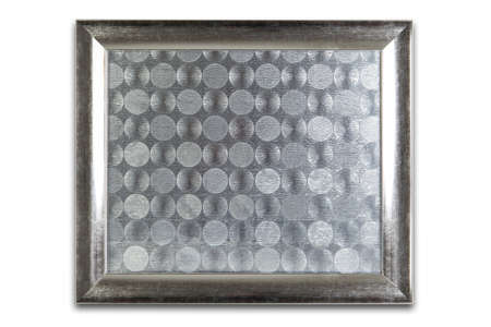 silvered: Silver frame with silvered texture inside.