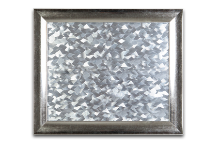 silvered: Isolated silver frame with silvered texture inside.
