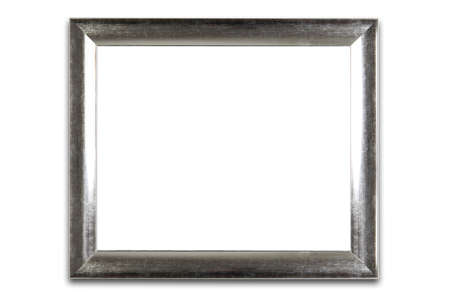 silver frame: Isolated silver frame.