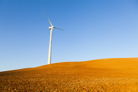 Windmill at the countryside. Stock Photo