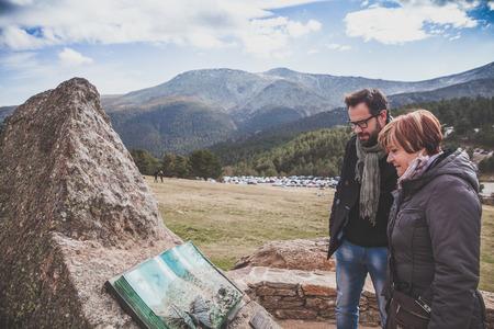 Tourism in the Madrid mountain range.